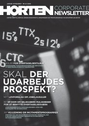 Corporate Newsletter Q1/2008 - Horten