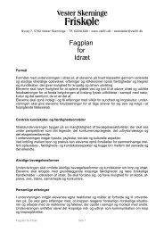 Fagplan for Idræt - Vester Skerninge Friskole