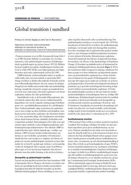 Global transition i sundhed - Ugeskrift for Læger