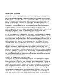 Perspektiver på Ungepakken Af Mette Marie Callesen, redaktør på ...