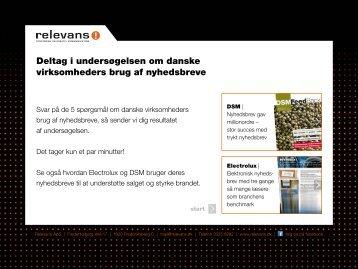 Deltag i undersøgelsen om danske virksomheders brug ... - Relevans