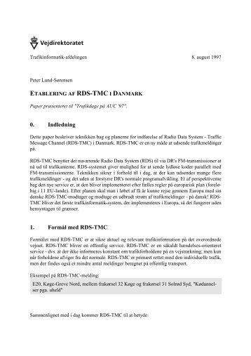 Hent paper som PDF-dokument - Trafikdage.dk