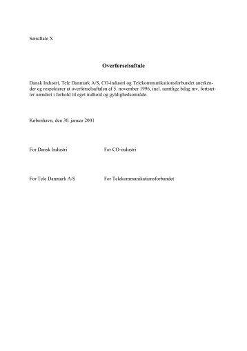 jf. bilag 2A til overførselsaftalen (Særaftale 10)