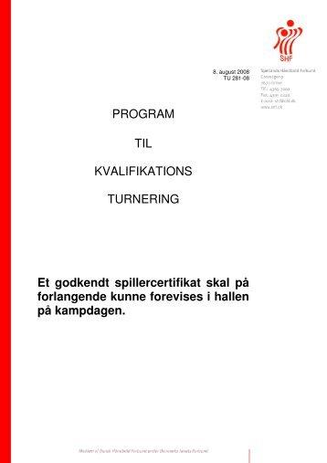 PROGRAM TIL KVALIFIKATIONS TURNERING Et ... - Herlev Hjorten