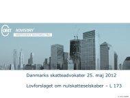 Danmarks skatteadvokater – Lovforslaget om ... - Corit Academic