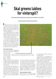 Skal greens lukkes for vinterspil? - Turfgrass
