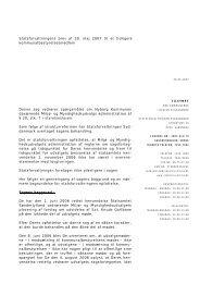 Statsforvaltningens brev af 30. maj 2007 til et tidligere ...