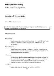 Læsehandleplan - Skoleporten Vestre Skole