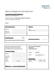 Aftale - betingelser modtagelse af ren jord hos By Havn - By og Havn