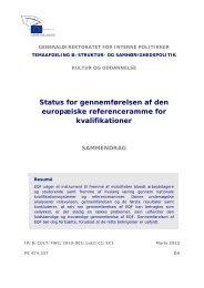 Status for gennemførelsen af den europæiske ... - Europa