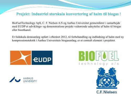 Torben Bonde, Biofuel Technology/CF Nielsen - AgroTech