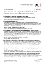 Dagsorden, bilagsliste, referat og DLI-notater i PDF
