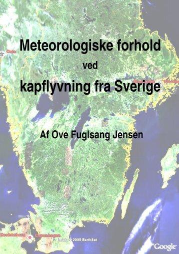 Meteorologiske forhold kapflyvning fra Sverige - Dansk Brevduesport