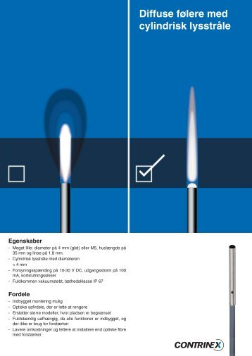 Diffuse følere med cylindrisk lysstråle - ics a/s