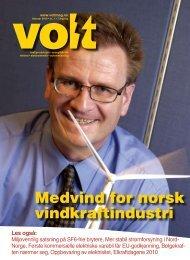 Medvind for norsk vindkraftindustri - Volt