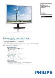 231S4LSS/00 Philips LCD-skærm, LED ... - Magnavox