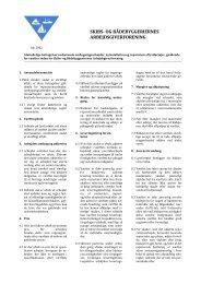 Almindelige betingelser vedrørende ombygningsarbejder ...