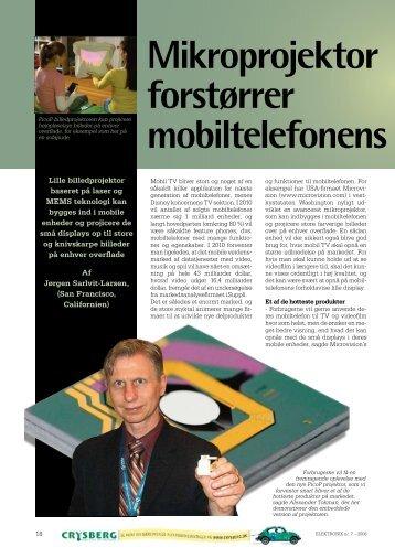 Mikroprojektor forstørrer mobiltelefonens display - Globalpress Summit