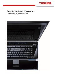 Qosmio TruBrite LCD-skærm Ultraskarp synsoplevelse - Toshiba