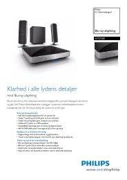 HTS7200/12 Philips 2.1 Hjemmebiograf - Lomax
