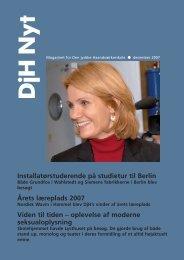 DjH Nyt december 2007 - Den jydske Haandværkerskole