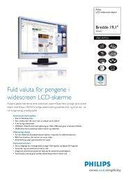 190CW7CS/00 Philips LCD widescreen-skærm - DCS