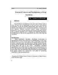 Structural Contexts and Paradiplomacy of Iraqi Kurdistan