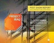 POsT shOw REPORT - Project Iraq 2013