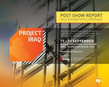 POsT shOw REPORT - Project Iraq 2013