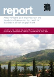 Achievements and challenges in the Kurdistan Region and the need ...