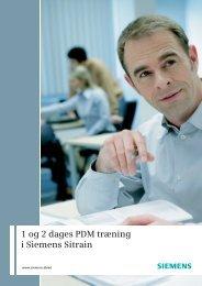 1 og 2 dages PDM træning i Siemens Sitrain