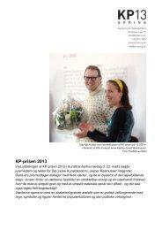Press release_KP Award 2013 - kp-spring.dk