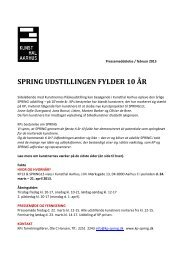 Pressemeddelelse / februar 2013 - kp-spring.dk