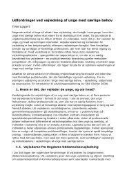 Udfordringer ved vejledning af unge med særlige behov - University ...