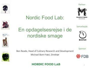 En opdagelsesrejse i de nordiske smage - Madkulturen