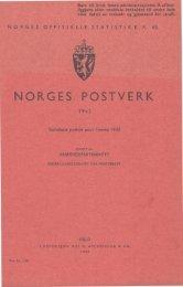 Norges Postverk 1942