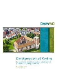 Danskernes syn på Kolding - Damvad