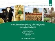 Workshop for IPM virkemidler under Grøn Vækst ... - Jordbruksverket