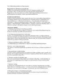 Titel: Miljøvenlig produktion af frugt og grønt Baggrunden for ...