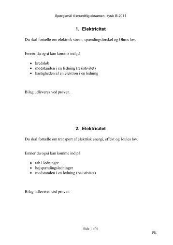 eksamensspørgsmål mundtlig dansk hf