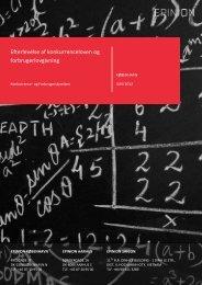 Bilag 4 Rapport om efterlevelse af konkurrenceloven og relevant ...