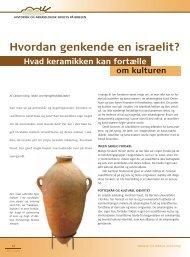 Hvordan genkende en israelit? Hvad keramikken kan fortælle om ...