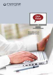 Download folder (pdf) om vores Q&A Retail - ProInvestor