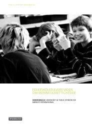Folkeskoleelevers viden om menneskerettigheder (pdf) - Amnesty ...