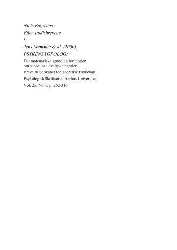 I. Efter Studiebrevene 1 - Niels Engelsted
