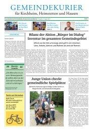 Gemeindekurier August 2013, Ausgabe 2
