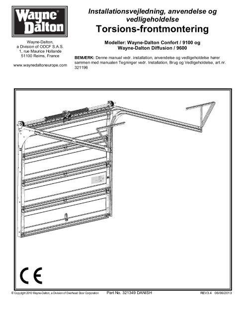 torsions frontmontering wayne dalton. Black Bedroom Furniture Sets. Home Design Ideas