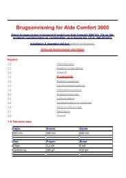 Brugsanvisning for Alde Comfort 3000