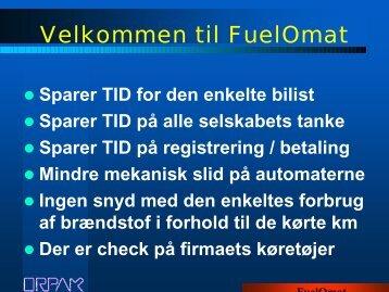 FUEL-O-MAT Præsentation - DKC