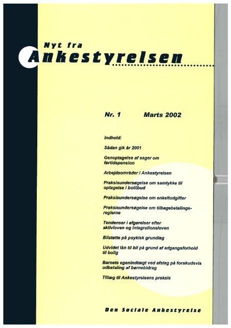 Nyt fra Ankestyrelsen nr. 1 - Marts 2002